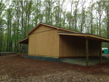 12x12 Pole Barn 2 12x40 Lean Tos Chatham County NC