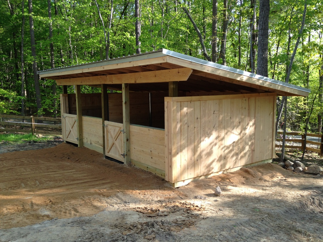 Horse barns for Two stall horse barn