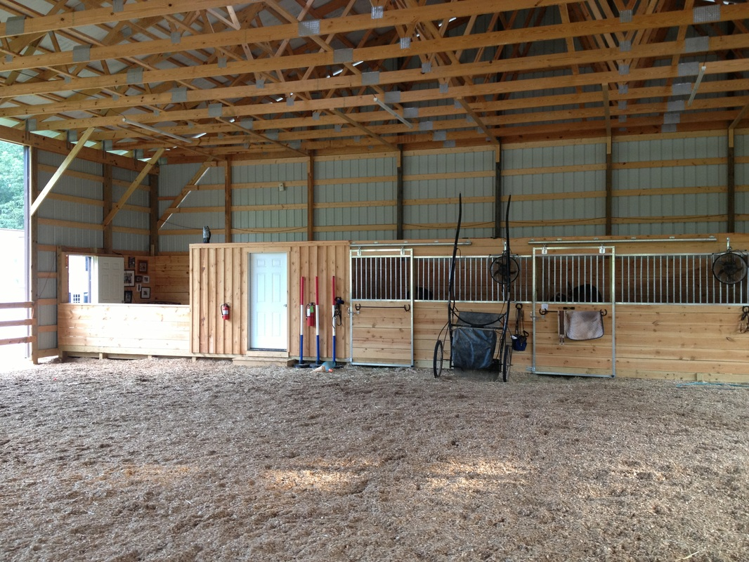 Horse Stalls With Tack Room And Arena View Area
