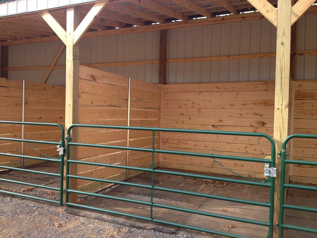 swinging stall door