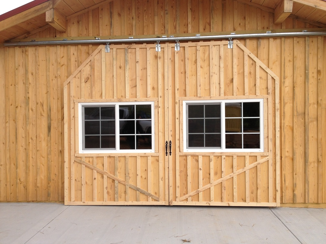 Board And Batten Slidng Doors